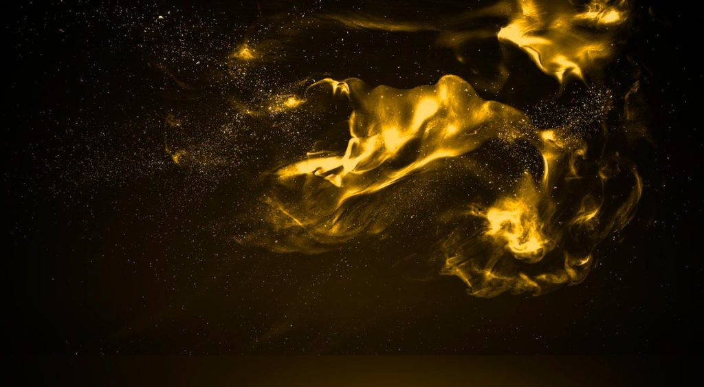 Magical yellow smoke