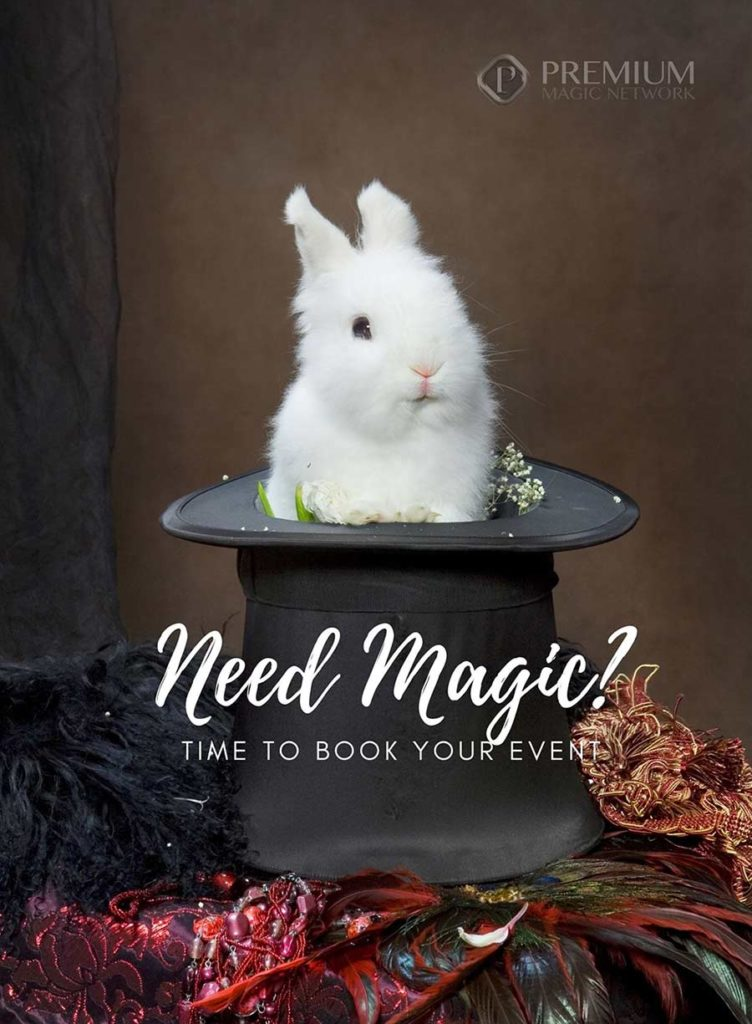 Rabbit in magic hat reminding you to book your holiday event