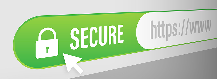 Look for the padlock to show your website is fully https secure.